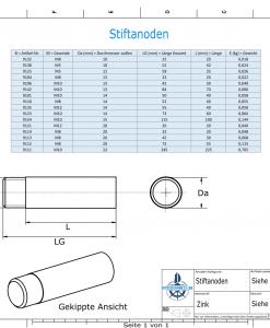 Bolt-Anodes M10 Ø22/L250 (Zinc) | 9111