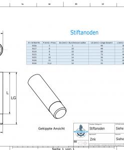 Bolt-Anodes 10 mm Press Ø14/L26 (Zinc)   9155