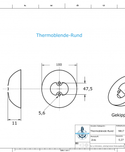 Thermocover round Ø100 mm (AlZn5In)   9817AL