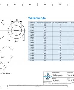 Shaft-Anode with metric inner diameter 50 mm (AlZn5In) | 9007AL