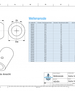 Shaft-Anodes with imperial inner diameter 2 1/4'' (AlZn5In)   9021AL