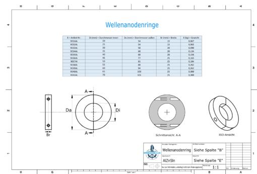 Shaft-Anode-Rings with metric inner diameter 20 mm (AlZn5In) | 9031AL