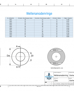 Shaft-Anode-Rings with metric inner diameter 50 mm (Zinc)   9037