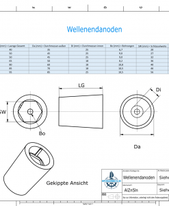 Shaftend-Anodes with hexagon socket SW40 (AlZn5In)   9421AL