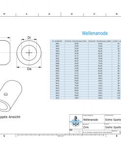 Shaft-Anode with metric inner diameter 20 mm (Zinc) | 9001