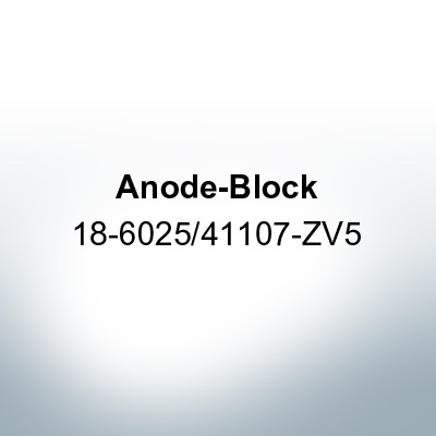 Anodes compatible to Honda | Anode-Block 18-6025/41107-ZV5 (AlZn5In) | 9545AL
