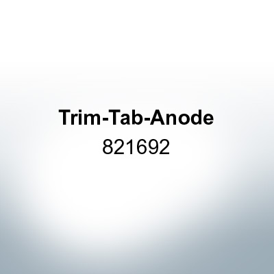Anodes compatible to Mercury   Trim-Tab-Anode 821692 (Zinc)   9704