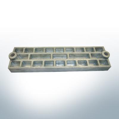 Anodi compatibili con Mercury | anodo di griglia 43396 (Zinco) | 9711