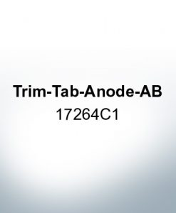 Anodes compatible to Mercury | Trim-Tab-Anode-AB 17264C1 (Zinc) | 9720