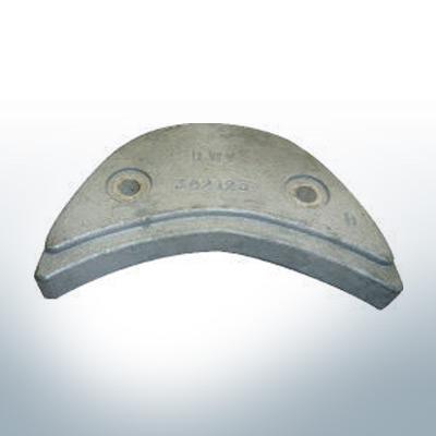 Anodi compatibili con Mercury   Anode á Piastra Ev/Jo 392123 (AlZn5In)   9529AL