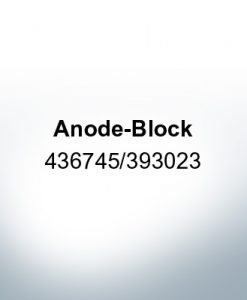 Anodes compatible to Mercury | Anode-Block 436745/393023 (AlZn5In) | 9528AL