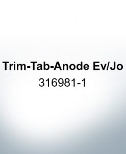 Anodes compatible to Mercury | Trim-Tab-Anode Ev/Jo 316981-1 (AlZn5In) | 9530AL