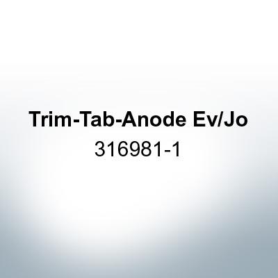 Anodes compatible to Mercury   Trim-Tab-Anode Ev/Jo 316981-1 (Zinc)   9530