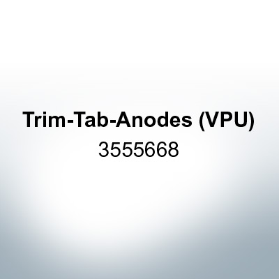 Anodes compatible to Volvo Penta | Trim-Tab-Anodes (VPU) 3555668 (Zinc) | 9213