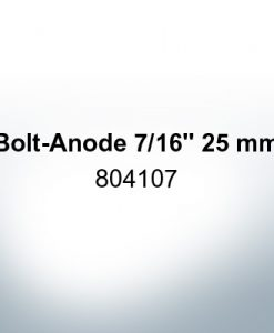 """Anodes compatible to Volvo Penta   Bolt-Anode 7/16"""" 25mm 804107 (Zinc)   9224"""