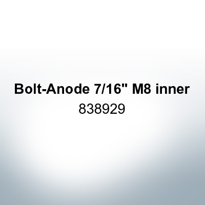 """Anodes compatible to Volvo Penta   Bolt-Anode 7/16"""" M8 inner 838929 (AlZn5In)   9225AL"""