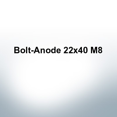 Anodes compatible to Volvo Penta   Bolt-Anode 22x40 M8 (Zinc)   9231