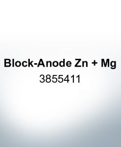 Anodes compatible to Volvo Penta   Block-Anode Zn Mg 3855411 (Zinc)   9236