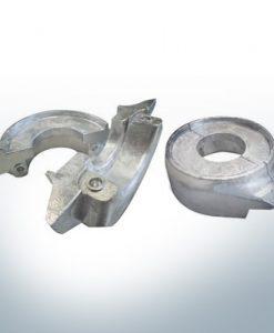 Anodi compatibili con Volvo Penta | Anodo ad anello 130/150 due parti 358407 | 3586963 | 3888305 | (AlZn5In) | 9244AL