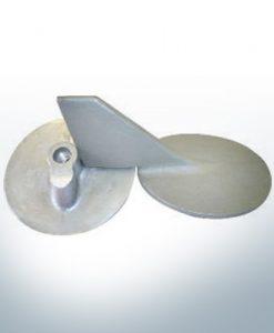 Anodi compatibili con Yamaha e Yanmar | Anodo di rifinitura 115 145 PS 6E5-45371-00 (AlZn5In) | 9539AL