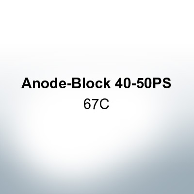 Anodes compatible to Yamaha and Yanmar | Anode-Block 40-50PS 67C (Zinc) | 9549