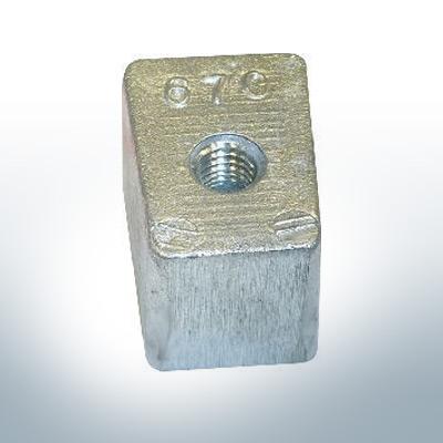 Anodi compatibili con Yamaha e Yanmar | Anodes de bloc 40-50PS 67C (Zinco) | 9549