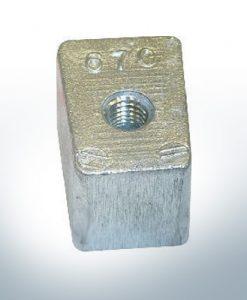 Anodi compatibili con Yamaha e Yanmar | Anodes de bloc 40-50PS 67C (AlZn5In) | 9549AL