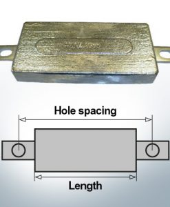 Anodi di blocco e di fusoliera Quadrato L150/185 (AlZn5In) | 9300AL