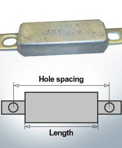 Anodi di blocco e di fusoliera Quadrato L90/115 (Zinco) | 9301