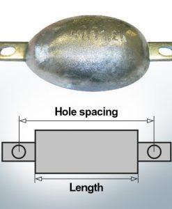 Anodi di blocco e di fusoliera Ovale L100/112,5 (Zinc) | 9302