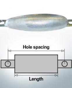Anodi di blocco e di fusoliera Ovale L220/250 (Zinco) | 9306