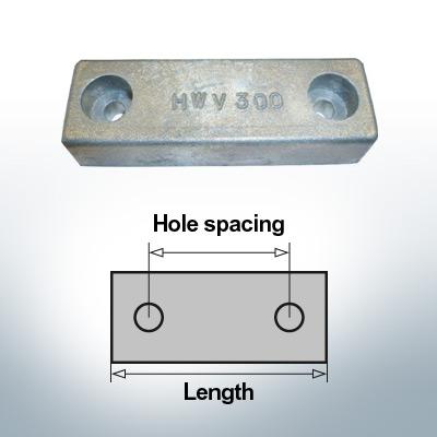 Anodi di blocco e di fusoliera Blocco L140/100 (AlZn5In) | 9313AL