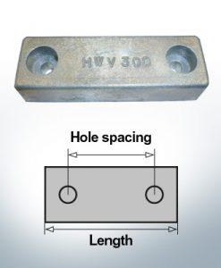 Anodi di blocco e di fusoliera Blocco L140/100 (Zinco) | 9313