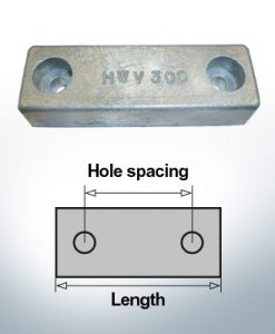 Anodi di blocco e di fusoliera Blocco L120/62 (AlZn5In) | 9315AL