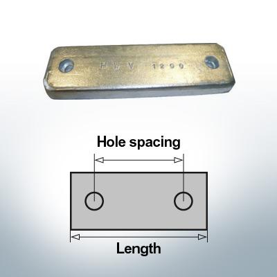 Anodi di blocco e di fusoliera Blocco L150/75 (Zinco) | 9321