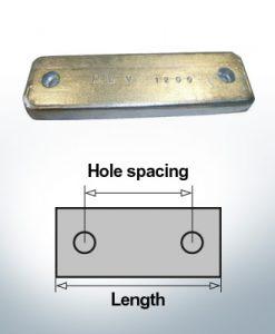 Anodi di blocco e di fusoliera Blocco L180/140 (Zinco) | 9317