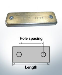 Anodi di blocco e di fusoliera Blocco L180/140 (AlZn5In) | 9317AL