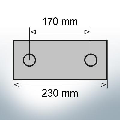 Block- and Ribbon-Anodes Block L230/170 (AlZn5In) | 9319AL