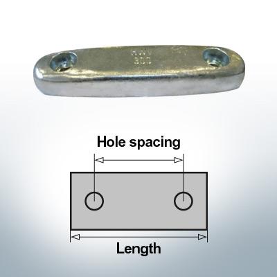 Anodi di blocco e di fusoliera Blocco L300/200 (AlZn5In) | 9323AL