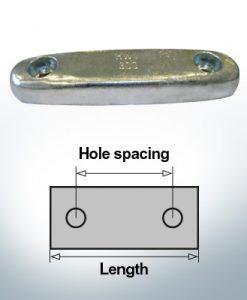 Anodi di blocco e di fusoliera Blocco L290/200 (AlZn5In)   9324AL