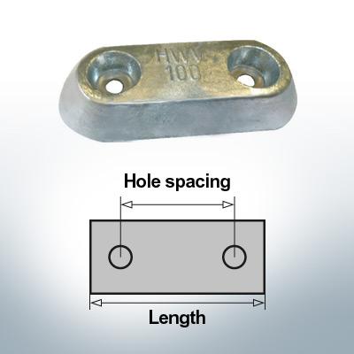Block- and Ribbon-Anodes Block L150/80 (Zinc)   9326