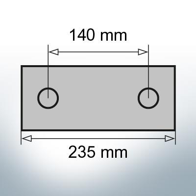 Block- and Ribbon-Anodes Block L235/140 (Zinc) | 9327