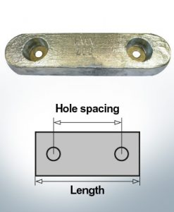 Anodi di blocco e di fusoliera Blocco L235/140 (Zinco) | 9327
