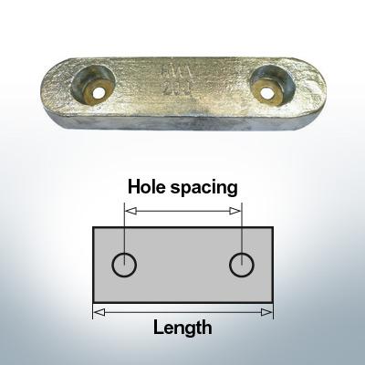 Anodi di blocco e di fusoliera Blocco L235/140 (AlZn5In) | 9327AL