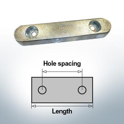 Anodi di blocco e di fusoliera Blocco L300/200 (Zinco) | 9328