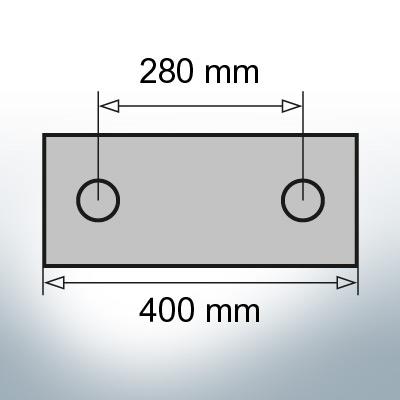 Block- and Ribbon-Anodes Block L400/280 (AlZn5In)   9329AL