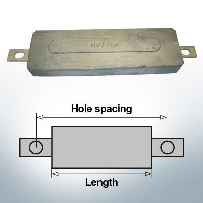 Anodi di blocco e di fusoliera Quadrato L270/295 (AlZn5In) | 9331AL