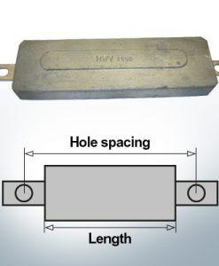 Anodi di blocco e di fusoliera Quadrato L270/295 (Zinco) | 9331