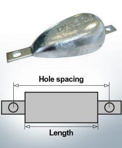 Anodi di blocco e di fusoliera Ovale L150/195 (Zinco) | 9334