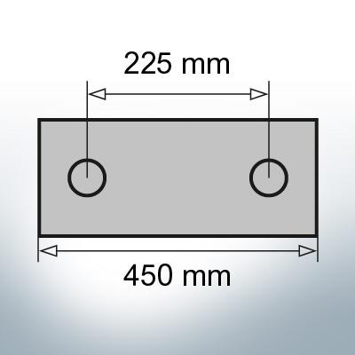 Block- and Ribbon-Anodes Block L450/225 (Zinc)   9344